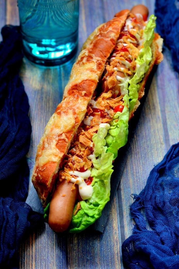 Hot dog kifli recept