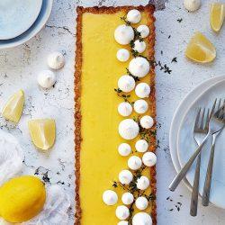 Kakukkfüves citromkrémes pite