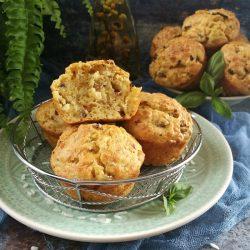 Mediterrán gombás-rizses muffin