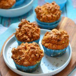 Sárgarépás-fetás muffin