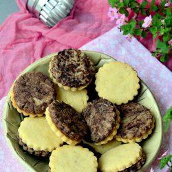 Vegán vaníliás-kakaós keksz