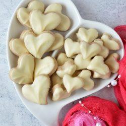 Fahéjas, fehér csokoládés szív