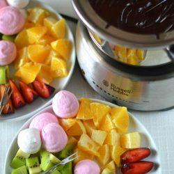 Narancsos csokoládéfondü