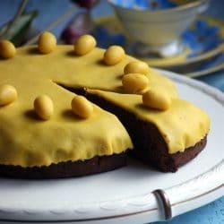 Simnel torta (húsvéti marcipános torta)