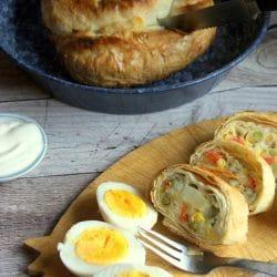 Zöldséges börek fetával