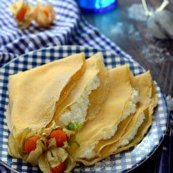 Palacsinta barnarizs-lisztből készítve