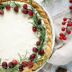 Fehércsokoládés-áfonyás pite