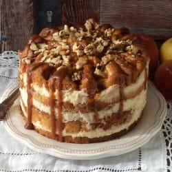 Almás-krémes torta