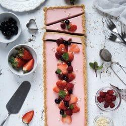 Epres-joghurtos tarte