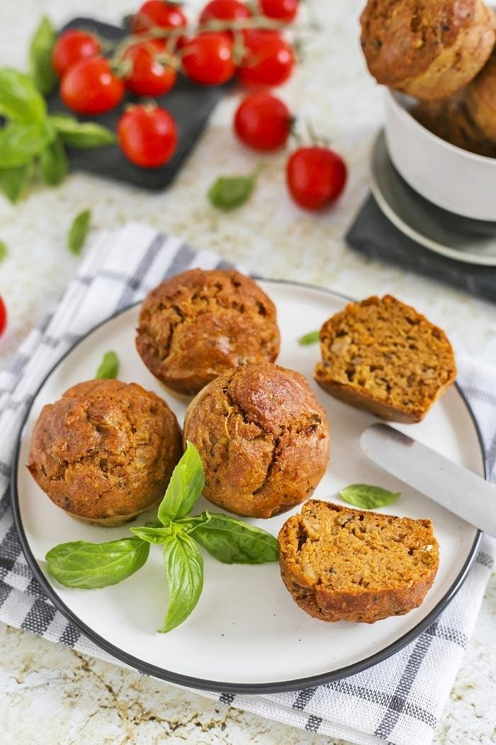 Cukkinis-gombás muffin