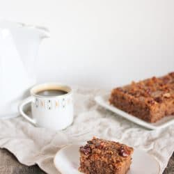Cukor- és gluténmentes diós szelet