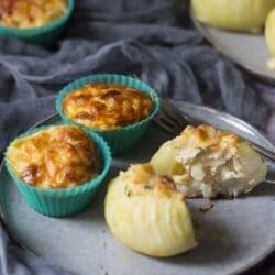 Vegetáriánus töltött karalábé és karalábés tojásmuffin